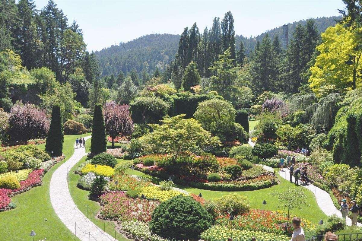 Il Butchart Garden è uno dei più bei giardini del Canada.