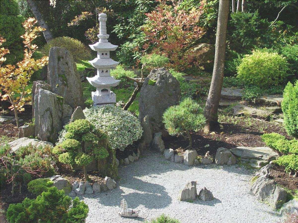Il giardino giapponese è un bellissimo giardino in stile asiatico.
