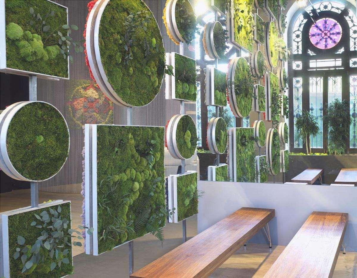 giardino verticale artificiale a casa